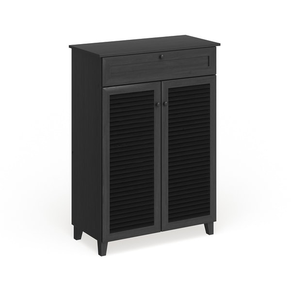 Porch & Den Rocheblave Espresso Wood Tall Multi-use Cabinet. Opens flyout.