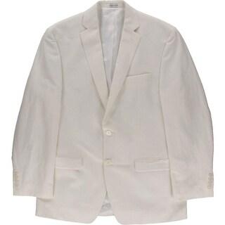 Calvin Klein Mens Linen Blend Double Vent Sportcoat