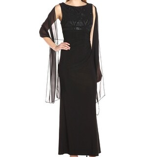 Jessica Howard NEW Black Women's Size 12 Embellished Maxi Dress