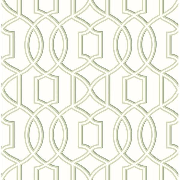 Brewster 2625 21813 Quantum Green Trellis Wallpaper