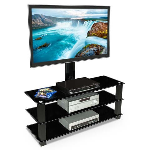 Mount-It! TV Stand with Mount for 32-60 Inch TVs