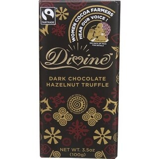 Divine - Dark Chocolate Hazelnut Truffle Bars ( 10 - 3.5 OZ)