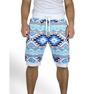 Aztec Print Jogger Shorts (Option: L)