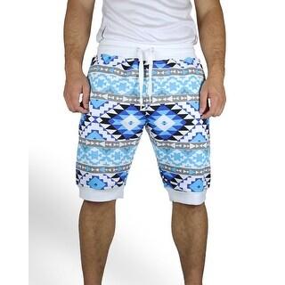 Aztec Print Jogger Shorts