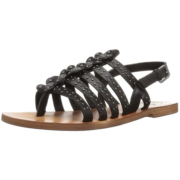 Patricia Nash Womens Erba Leather Open Toe Casual Strappy Sandals