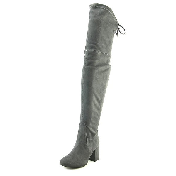 GC Shoes Bailey Women Round Toe Synthetic Gray Over the Knee Boot