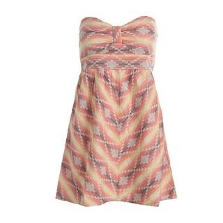 Roxy Womens Juniors Sundress Pattern Strapless
