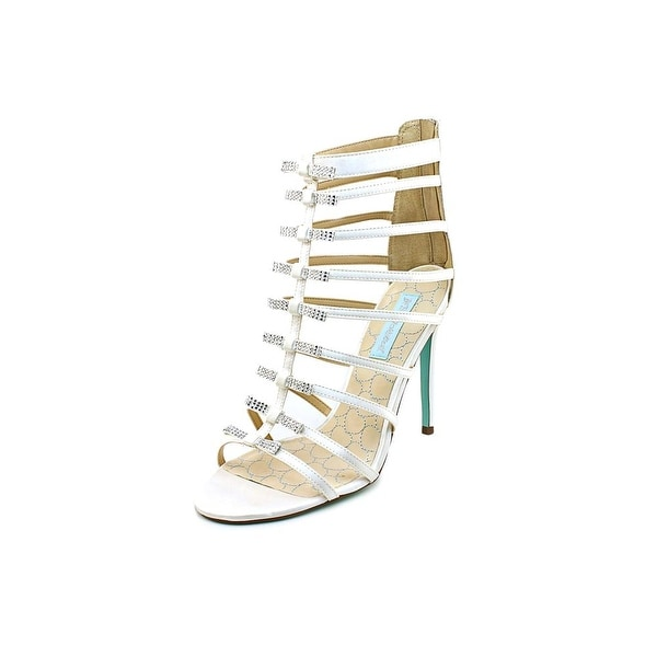 Betsey Johnson Tie Open Toe Canvas Gladiator Sandal