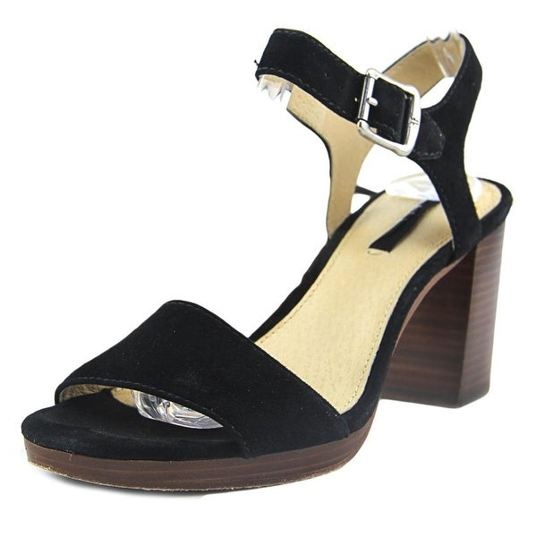 Frye Blake 2 Piece Women Open Toe Leather Black Sandals