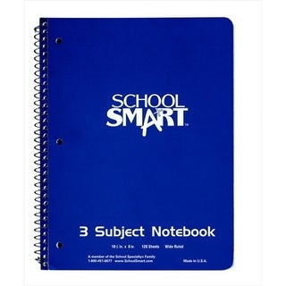 Sulphite 3-Hole Punched Non-Perforated Spiralbound Notebook - 1