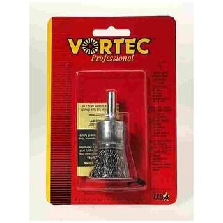 "Weiler 36046 Vortec-Pro Crimped Solid End Wire Brush, 3/4"""