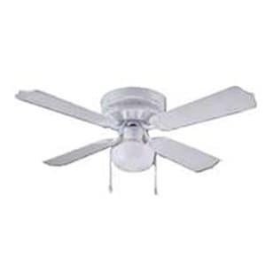 """Boston Harbor CF-78126 Hugger Ceiling Fan, 42"""", White"""