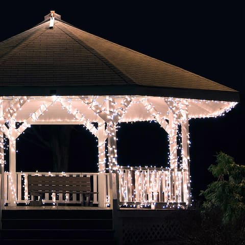 Solar Powered 225 LED Outdoor String Lights - Multiple Color Options