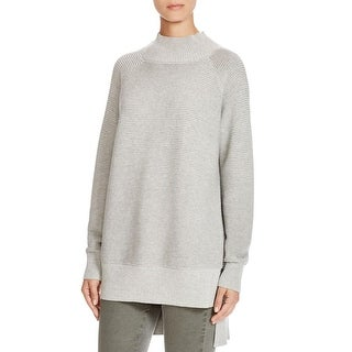 French Connection Womens Funnel-Neck Sweater Cotton Hi-Low