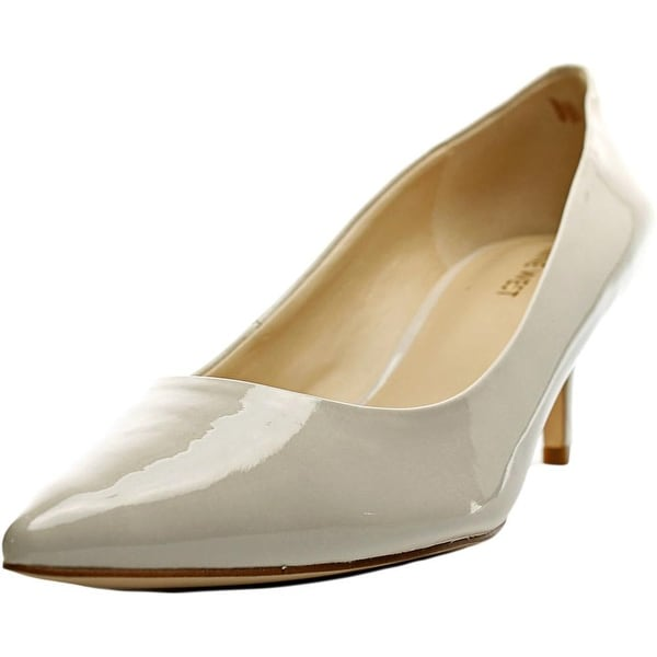Nine West Xeena Women Pointed Toe Patent Leather Ivory Heels