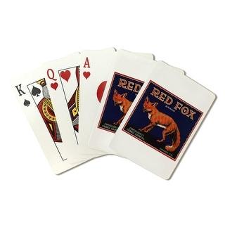 Orange CA Red Fox Brand Citrus Crate Vintage Label (Poker Playing Cards Deck)