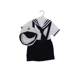 Paperio Toddler Boys Sailor Outfits Halloween Costume Navy Blue - Navy Blue