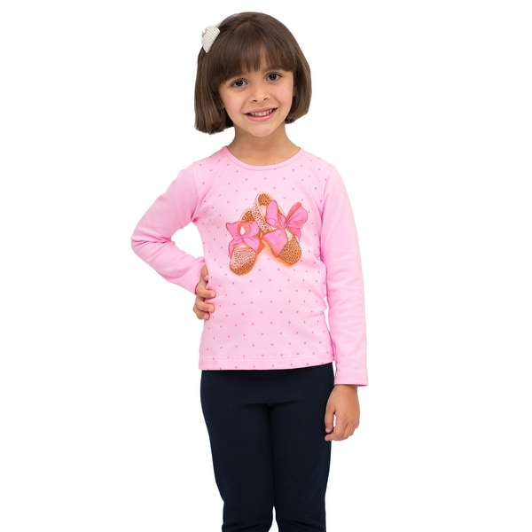 Pulla Bulla Toddler Girl Long Sleeve Graphic Tee Shirt