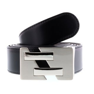 HS Collection HSB 8099 Black/Brown Reversible/Adjustable Mens Belt