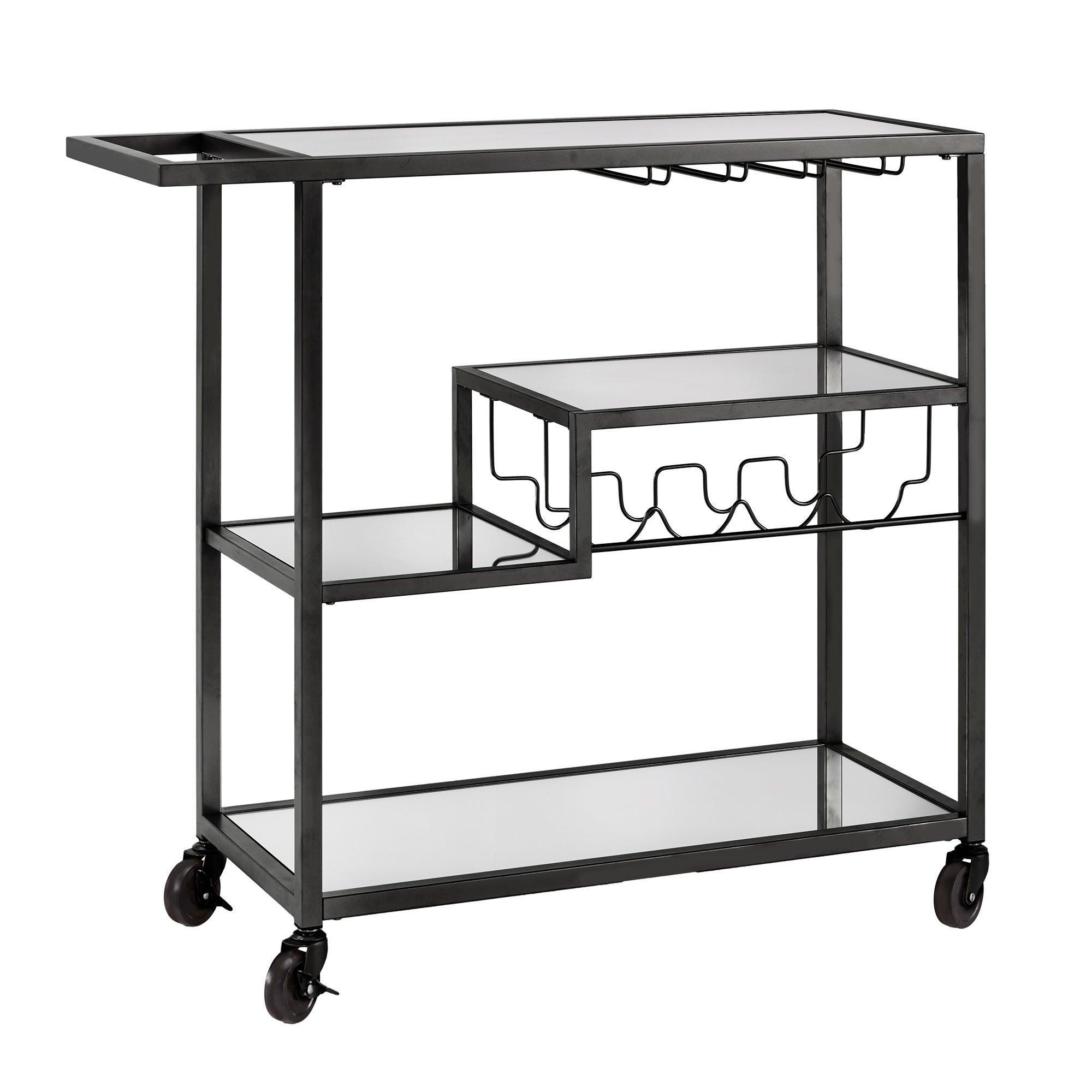 Metropolitan Mirrored Glass Top Metal Bar Cart By Inspire Q Bold On Sale Overstock 13057939