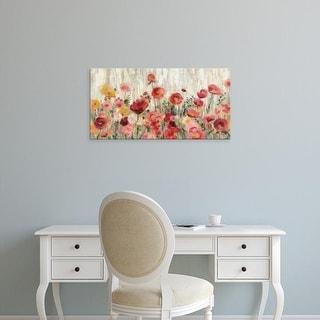 Easy Art Prints Silvia Vassileva's 'Sprinkled Flowers Crop' Premium Canvas Art