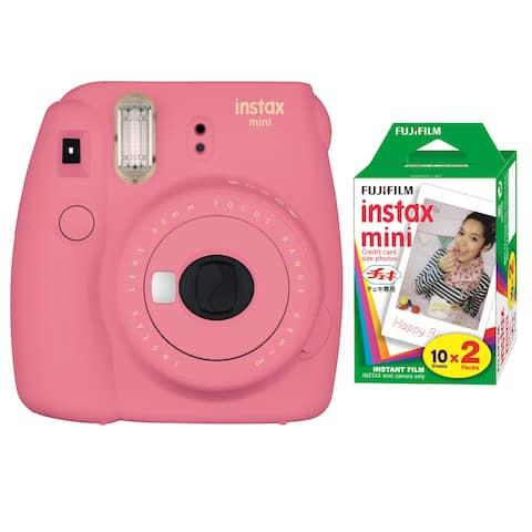 Fujifilm Instax Mini 9 (Flamingo Pink) w/Color Film (2-Pack)