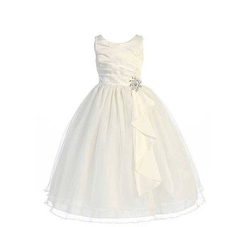Chic Baby Ivory Layered Brooch Flower Girl Dress Little Girls 4-14 (More options available)