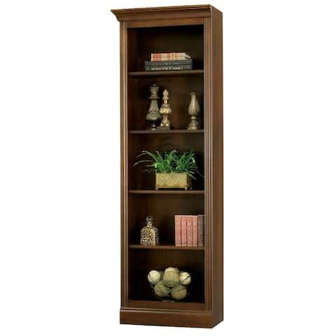Hekman Solid Wood Brown 5-shelf Bookcase (Left Pier Only)