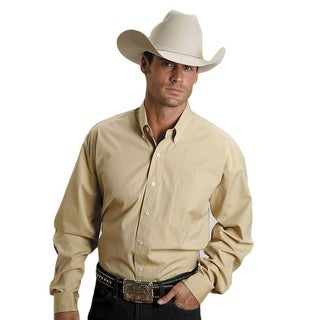 Stetson Western Shirt Mens L/S Solid Button Gold 11-001-0566-0032 YE