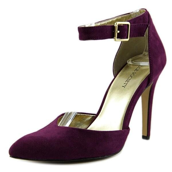 Sole Society Azra Women Pointed Toe Synthetic Purple Heels