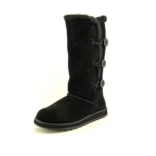 Skechers Keepsakes Conceal Women Round Toe Suede Black Winter Boot