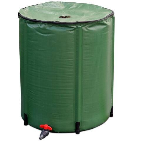 """53 Gallon Portable Collapsible Rain Barrel Water Collector - 24"""" x 28.5"""""""
