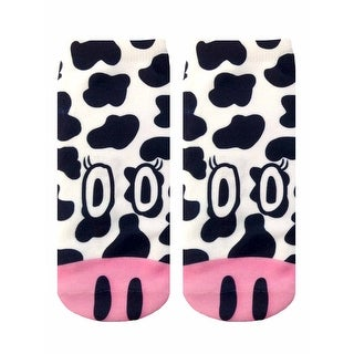 Cow Photo Print Ankle Socks