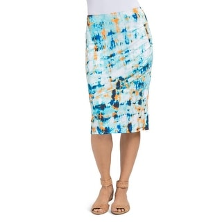 Lysse Womens Tiered Skirt Printed Sarong - L