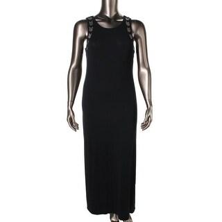 Material Girl Womens Juniors Embellished Cut-Out Maxi Dress - XL