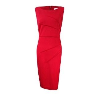 Calvin Klein Women's Sunburst Crepe Sheath Dress