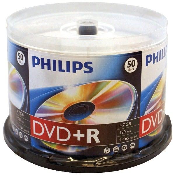 Philips Dr4S6B50F/17 4.7Gb 16X Dvd+Rs (50-Ct Cake Box Spindle)