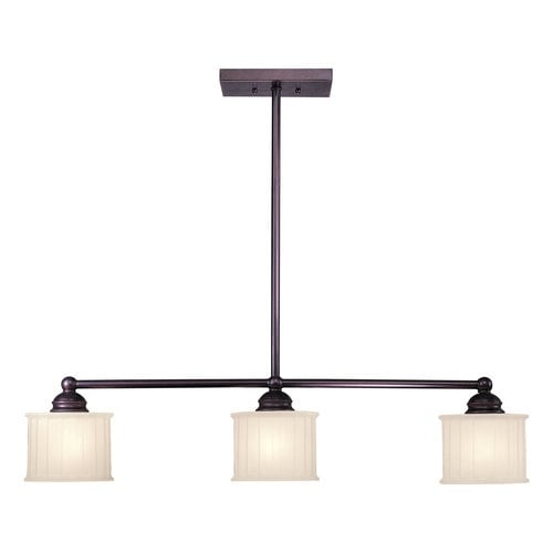 Minka Lavery ML 1734 3 Light 1 Tier Linear Chandelier from the 1730 Series Collection