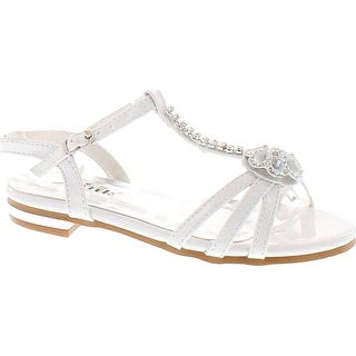 Forever Nora-69K Girls Open Toe Flat Wedding Party Dress Sandal Shoes
