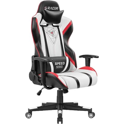 Homall Gaming Chair Racing Office Chair High Back PU Leather Computer Desk Chair Executive and Ergonomic Swivel Chair