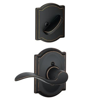 Schlage F59-ACC-CAM-RH  Accent Right Handed Single Cylinder Interior Pack with Decorative Camelot Trim - Exterior Handleset Sold