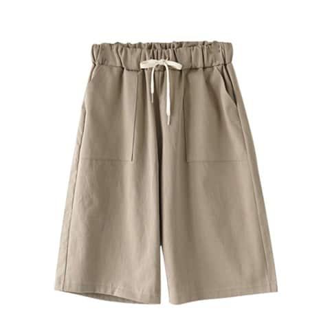 Drawstring Knee Length Shorts, S-3X, Multiple Colors