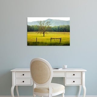 Easy Art Prints Adam Jones's 'Single Tree At Sunrise' Premium Canvas Art