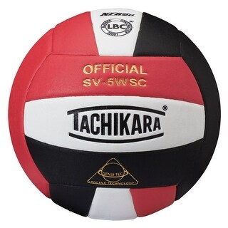 Tachikara Sensi-Tec Composite Leather Volleyball (Red/White/Black)