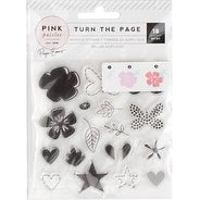 Page Evans Turn The Page - Pink Paislee Layerable Stamp Set 18pcs