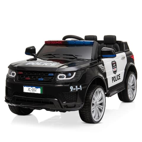 Kids Ride On Toys Police Car 12V Electric with Remote Control,
