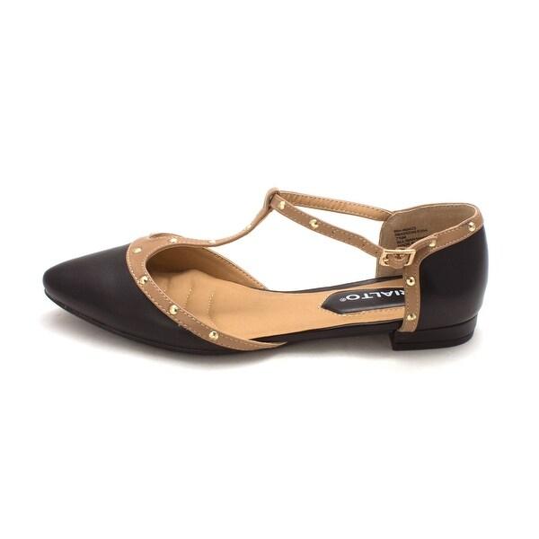 Rialto Womens Alexia Pointed Toe Casual T-Strap Sandals