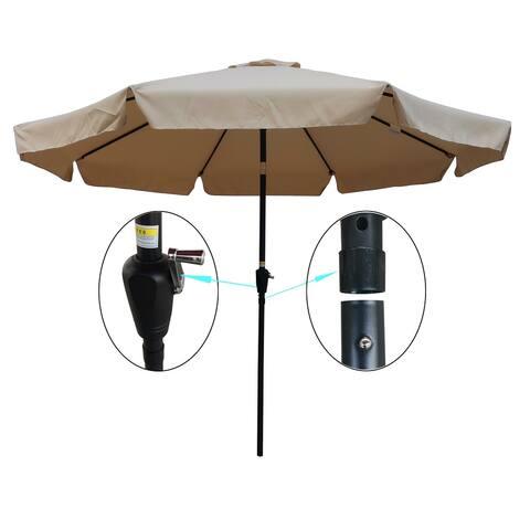 Nestfair 10 ft Patio Umbrella Market Table Round Umbrella
