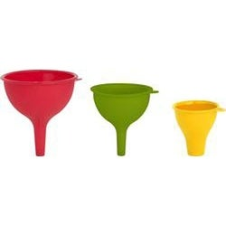 Red; Yellow & Green - Silicone Funnels 3/Pkg