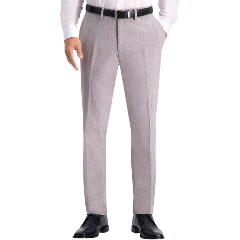 Kenneth Cole Reaction Mens Dress Pants Slim Fit Business - Heather Grey